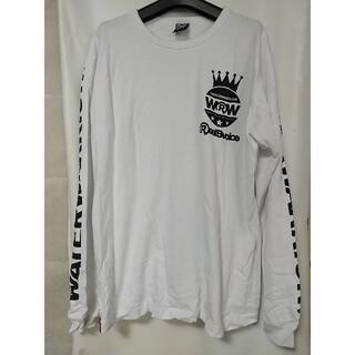 リアルビーボイス(RealBvoice)のREAL B VOICE プリント 長袖Tシャツ Mサイズ 白 リアルビーボイス(Tシャツ/カットソー(七分/長袖))