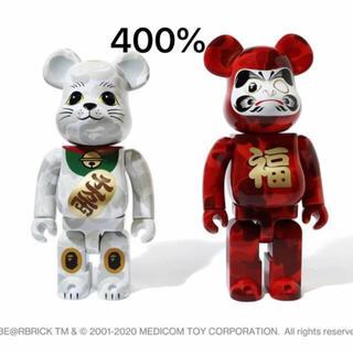 メディコムトイ(MEDICOM TOY)のベアブリック BAPE招き猫 & 達磨 400% 2PACK(その他)