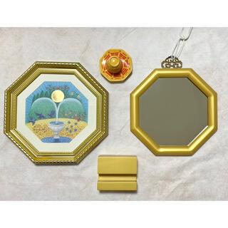 玄関鏡/金運の泉/盛り塩セット 風水3点セット(壁掛けミラー)