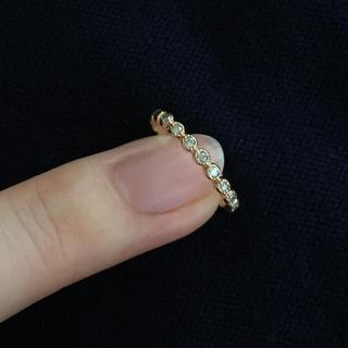 アガット(agete)のagete ダイヤ ピンキーリング(リング(指輪))