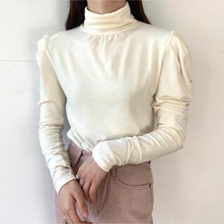 フラワー(flower)のnugu wool puff turtleneck(ニット/セーター)