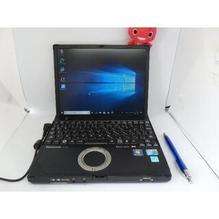 パナソニック(Panasonic)の快速!美品、青い小型10.1inc LET'S NOTE SSD128GB(ノートPC)