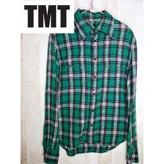 ティーエムティー(TMT)のTMT ティーエムティー チェックシャツ 長袖 刺繍 Bigholiday(シャツ)