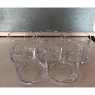 トウヨウササキガラス(東洋佐々木ガラス)の【未使用】レトロ☆東洋ガラス ロックグラス  5個セット(グラス/カップ)