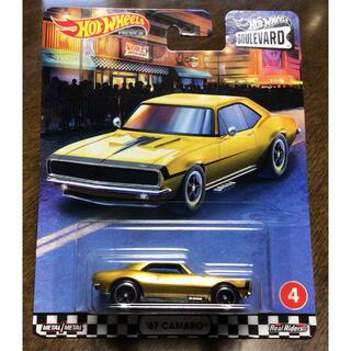 シボレー(Chevrolet)のホットウィール ブールバード  '67 カマロ ゴールド ボンネット開閉(ミニカー)