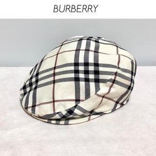 バーバリーブルーレーベル(BURBERRY BLUE LABEL)のBURBERRY london BLUE LABEL チェック柄 パンチング帽(ハンチング/ベレー帽)