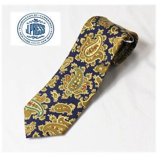ジェイプレス(J.PRESS)の 《ジェイプレス》新品 イギリス製生地 シルク100% ペイズリー柄ネクタイ 紺(ネクタイ)