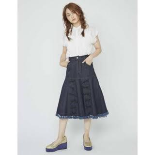 メリージェニー(merry jenny)のmerry jenny フリンジリボンスカート(ロングスカート)