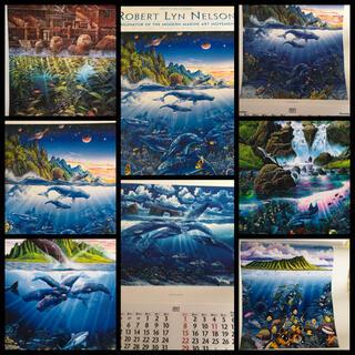ラッセンより先にマリンアートを手掛けていた有名画家ロバートリンネルソンカレンダー(カレンダー)