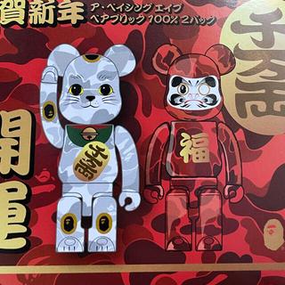 【新品】BE@RBRICK BAPE®️ 招き猫&達磨 100% (フィギュア)