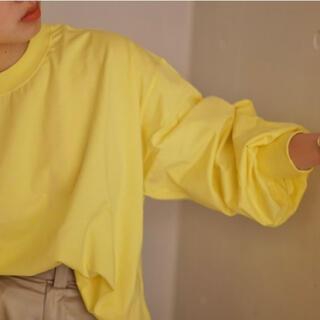 ハイク(HYKE)のHYKE/ハイク 2020awロングスリーブT イエロー サイズ2(Tシャツ(長袖/七分))