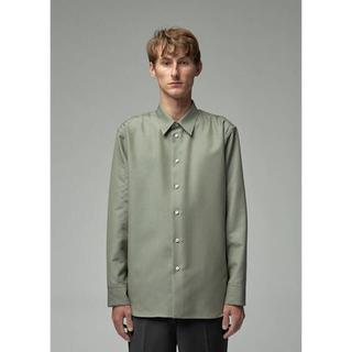 ジルサンダー(Jil Sander)のJIL SANDER ジルサンダー 19AW ウールツイルシャツ(シャツ)