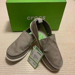 クロックス(crocs)のクロックス メンズスニーカー28センチ グレー 未使用(スニーカー)