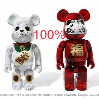 メディコムトイ(MEDICOM TOY)のBAPE NEW YEAR BE@RBRICK BAPE 招き猫&達磨100%(フィギュア)