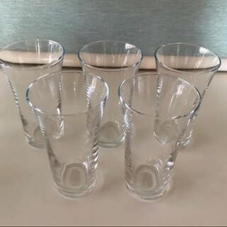 トウヨウササキガラス(東洋佐々木ガラス)の【未使用】レトロ☆東洋ガラス☆グラス  5個セット(グラス/カップ)