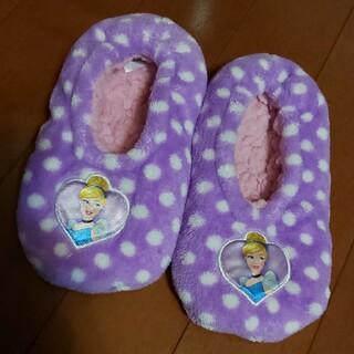 ディズニー(Disney)の【美品】シンデレラ ルームシューズ  17~21cm(スリッパ/ルームシューズ)