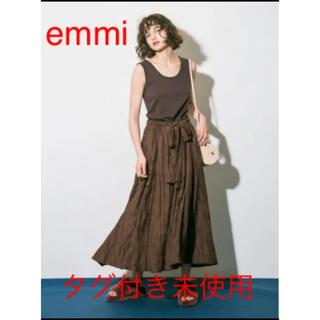 エミアトリエ(emmi atelier)の新品未使用 emmi atelier カットソードッキングワンピース(ロングワンピース/マキシワンピース)