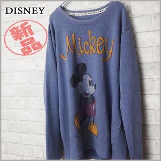ディズニー(Disney)の新品 大きいサイズ3L‼ クラック ミッキー カットソー(カットソー(長袖/七分))