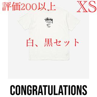 ステューシー(STUSSY)のNIKE X STUSSY SHORTSLEEVE T-SHIRT WHITE(Tシャツ/カットソー(半袖/袖なし))