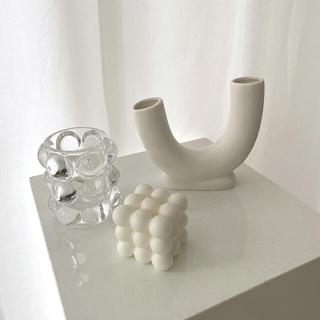 Francfranc - 花瓶 フラワーベース 北欧風 インテリア オブジェ 陶器 韓国インテリア