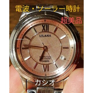 カシオ(CASIO)のラ230. 超美品 電波・ソーラー時計 カシオ・リラーナ デイト(腕時計)