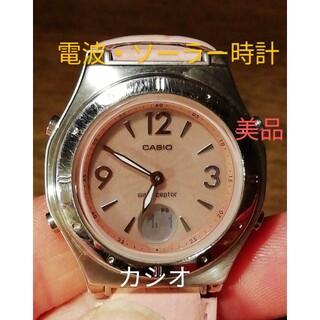 カシオ(CASIO)のラ232. 美品 電波・ソーラー時計 カシオ・ウェーブセプター 多機能時計(腕時計)