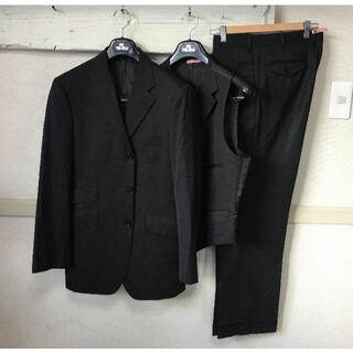 BURBERRY BLACK LABEL - S098★40Rバーバリーブラックレーベル3ピース スーツ黒クリーニング済み
