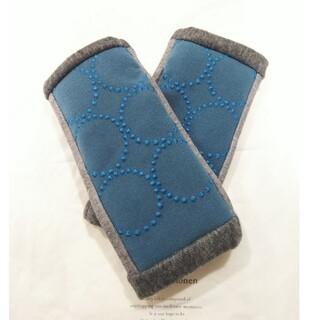 ミナペルホネン(mina perhonen)のミナペルホネン ハンドメイドアームウォーマー dop タンバリン ブルー(手袋)