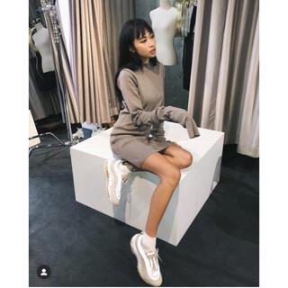 アメリヴィンテージ(Ameri VINTAGE)のPillingless Long Sleeve Knit Dress juemi(ミニワンピース)