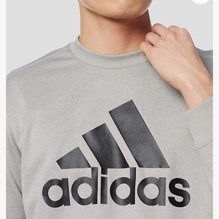 アディダス(adidas)の【大人気商品】アディダス スウェット(トレーナー)M グレー(スウェット)