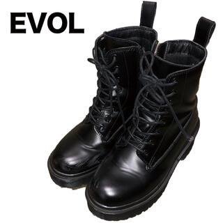 イーボル(EVOL)のEVOL イーボル ブーツ ブラック 厚底(ブーツ)