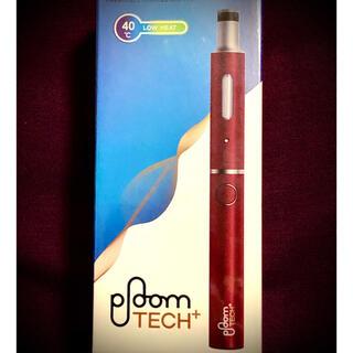 プルームテック(PloomTECH)の新品 プルームテックプラス スターターキット PloomTECH +  ワイン色(タバコグッズ)