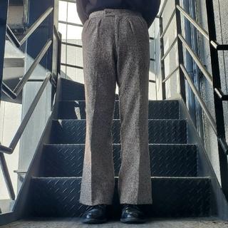 ジョンローレンスサリバン(JOHN LAWRENCE SULLIVAN)のヴィンテージ スラックス トラウザー フレアパンツ ベージュ ツイード(スラックス)