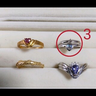 K18WGピンキーリング指輪ホワイトゴールド(リング(指輪))