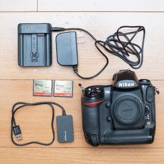ニコン(Nikon)のNikon D3S+充電器+CF×2(デジタル一眼)