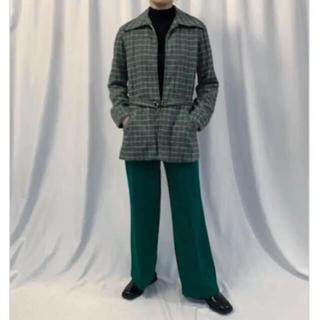 アメリヴィンテージ(Ameri VINTAGE)のKIARIS VINTAGE  70s Green Jacket(ノーカラージャケット)