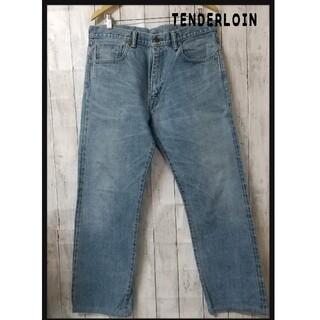 テンダーロイン(TENDERLOIN)のTENDERLOIN デニムパンツ ウォッシュ インディゴ 古着 W36(デニム/ジーンズ)