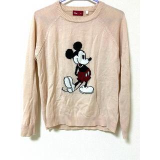 ディズニー(Disney)のミッキーマウス ピンクニット(ニット/セーター)