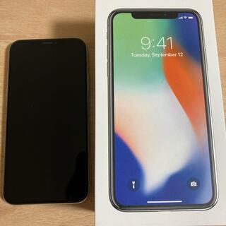 アップル(Apple)ののり様専用 Apple iPhone X  中古美品 シルバー(スマートフォン本体)