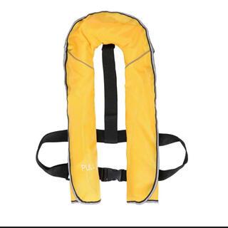 期間限定セール♪ライフジャケット■手動ベストタイプ■カラー:⑦黄色■ヤマト送料込(ウエア)