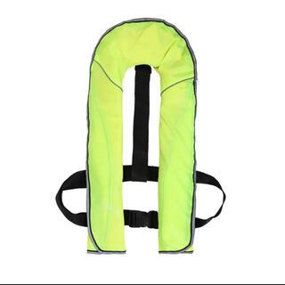期間限定セール♪ライフジャケット手動ベストタイプ■⑨番:黄緑蛍光■ヤマト送料込(ウエア)