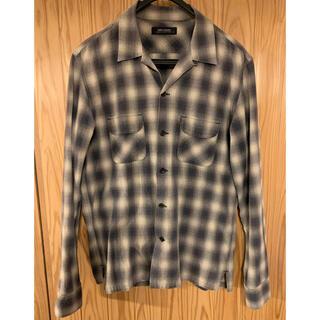 RUDE GALLERY - ルードギャラリー  オンブレチェック オープンカラー シャツ