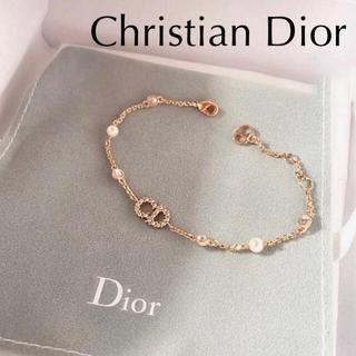 クリスチャンディオール(Christian Dior)のChristian Dior ブレスレット メタル・レジンビーズ・クリスタル(ブレスレット)