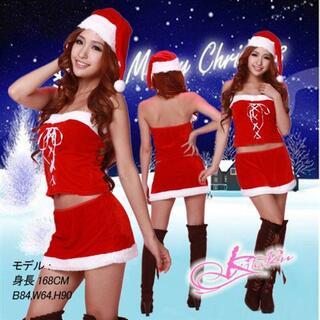 bd38サンタ コスプレ サンタ 衣装サンタ スカート サンタ帽子のクリスマス衣(衣装一式)
