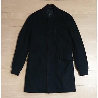 ザラ(ZARA)の良品 ZARA MAN ザラ ステンカラーコート S ブラック 黒(ステンカラーコート)