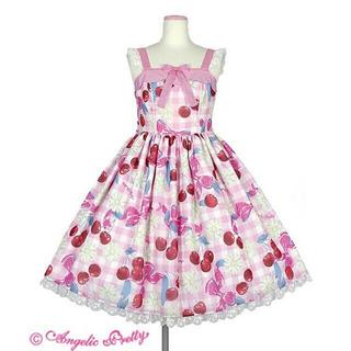 アンジェリックプリティー(Angelic Pretty)のSweet Cherry Margaretジャンパースカート(ひざ丈ワンピース)