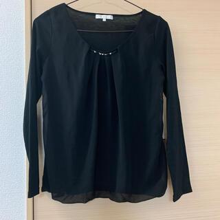 プロポーションボディドレッシング(PROPORTION BODY DRESSING)のプロポーション♡ブラウス 黒  オフィスカジュアル(シャツ/ブラウス(長袖/七分))