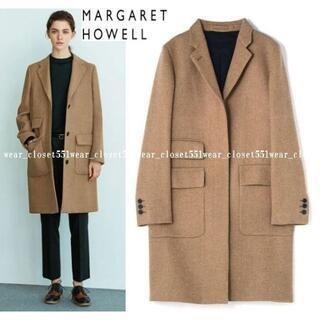 マーガレットハウエル(MARGARET HOWELL)の2016 美品マーガレットハウエル×ハリスツイード☆ウール シティコート 3 (ロングコート)