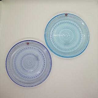 イッタラ(iittala)のイッタラ カステヘルミ プレート アクア ライトブルー 2点セット 新品 未使用(食器)