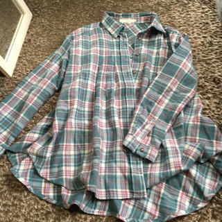 ココディール(COCO DEAL)のフレアチェックシャツ(Tシャツ(長袖/七分))